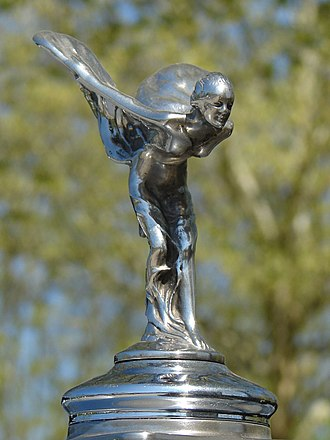 "Spirit of Ecstasy - ""Spirit of Ecstasy"" on a Rolls-Royce Silver Cloud I, 1957."