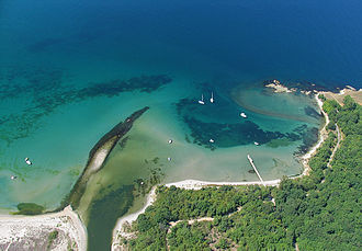 Geography of Bulgaria - The coastline at the river Ropotamo