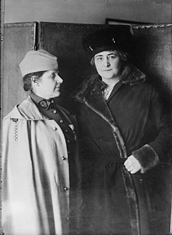 Rosalie Slaughter Morton and Anne Morgan in 1918