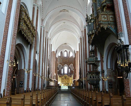 The nave of the cathedral - Roskilde Cathedral