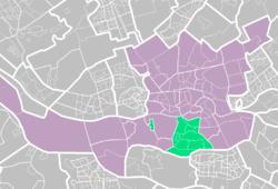 Platsen för Charlois-distriktet i Rotterdam