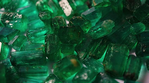 Rough emerald crystals from Panjshir Valley Afghanistan