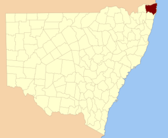 Rous County - Location in New South Wales