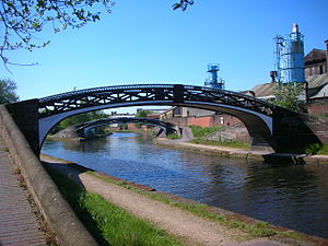 BCN Main Line - Image: Roving bridges at Smethwick Junction