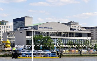 Royal Festival Hall, London, was the first postwar building to gain Grade I listed status. Royal Festival Hall 2011.jpg