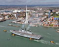 Royal Navy Aircraft Carrier HMS Illustrious Returns To Portsmouth Folllowing Refit MOD 45152942.jpg