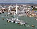 Royal Navy Aircraft Carrier HMS Illustrious Returns To Portsmouth Folllowing Refit MOD 45152942.jpg