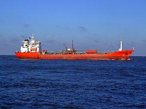 Rubino p4 approaching Port of Rotterdam, Holland 25-Jan-2007.jpg
