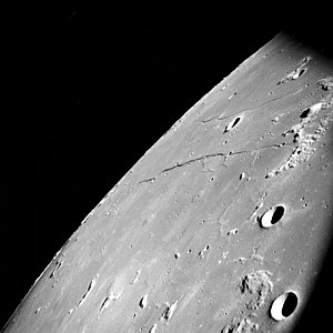 Rupes Cauchy - Rupes Cauchy, photographed by Apollo 8