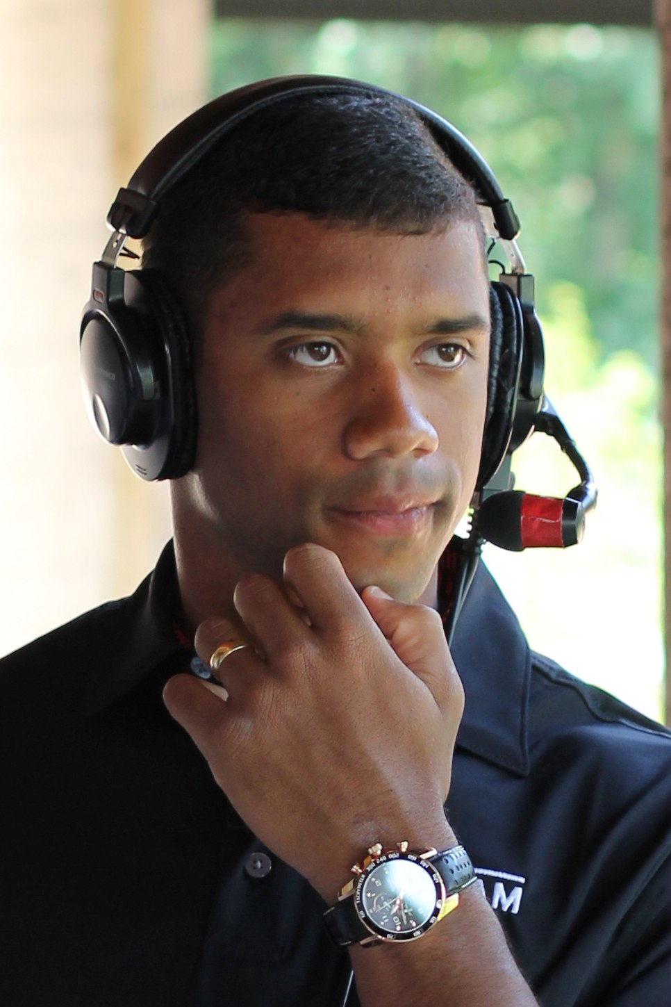 Russell Wilson at the 2013 Jessie Vetter Classic, July 1, 2013