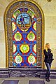 Russia 3393 - Stained Glass and great looking ladies, my kind of subway. (4150118369).jpg