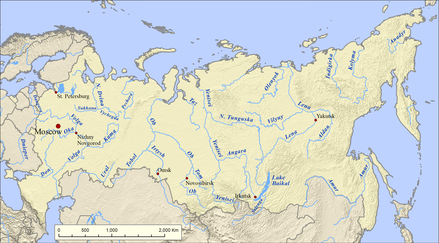 List Of Rivers Of Russia Wikiwand - List of major rivers