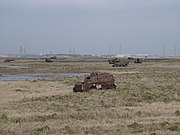 Rusty old armoured vehicles on Lydd firing range - geograph.org.uk - 1170874