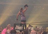 Van Dam after winning the Intercontinental Championship at WrestleMania X8.