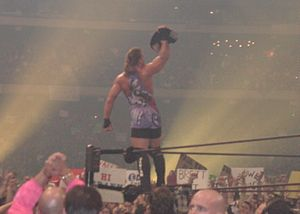 Rob Van Dam - Van Dam after winning the Intercontinental Championship at WrestleMania X8.