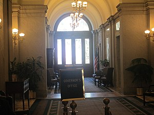 Governor of South Carolina - Outer part of the governor's office in the South Carolina State House in Columbia