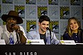 SDCC 2017 - Mehcad Brooks, Jeremy Jordan and Melissa Benoist 01.jpg
