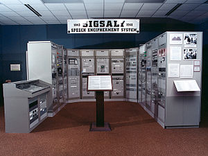 SIGSALY - SIGSALY exhibit at the National Cryptologic Museum
