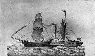 Ocean liner - In 1838, the Sirius was the first ship to cross the Atlantic using steam power.