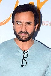 Saif looking away from the camera
