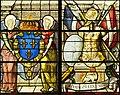 Saint-Chapelle de Vincennes - Baie 1 - Deux anges présentant les armes de France et trophée d'armes (bgw17 0742).jpg