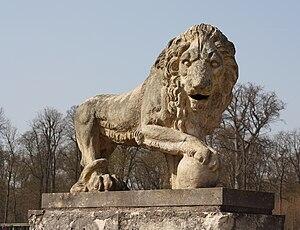 Parc de Saint-Cloud - A Medici lion sculpture in the parc (of unknown origin).