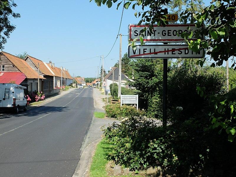 File:Saint-Georges (Pas-de-Calais) - Entrée de commune.JPG