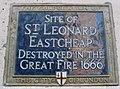 Saint Leonard Eastcheap plaque London.jpg