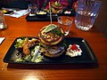 Salmon blini burger at restaurant Chico's.jpg
