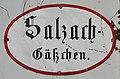 Salzburg, Straßenschild Salzach-Gäßchen, 1.jpeg