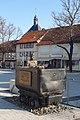 Salzgitter-Bad - Marktplatz mit Bergmann und Förderwagen 2016-03.jpg