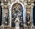 San Lio (Venice) - altar maggiore tela Cristo morto sostenuto da angeli e santi di Palma il Giovane.jpg