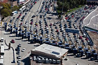 Environmental issues along the Mexico–United States border - Idling vehicles for long periods of time at border entries are significant in contributing the poor air quality along the border.