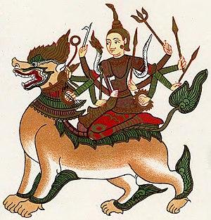 Chandi - A Burmese portrayal of Chandi (Sandi Dewi).
