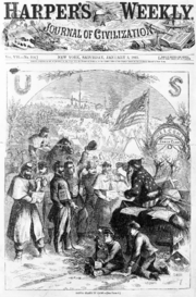Nast's Santa Claus on the cover of the January 3, 1863, issue of Harper's Weekly.