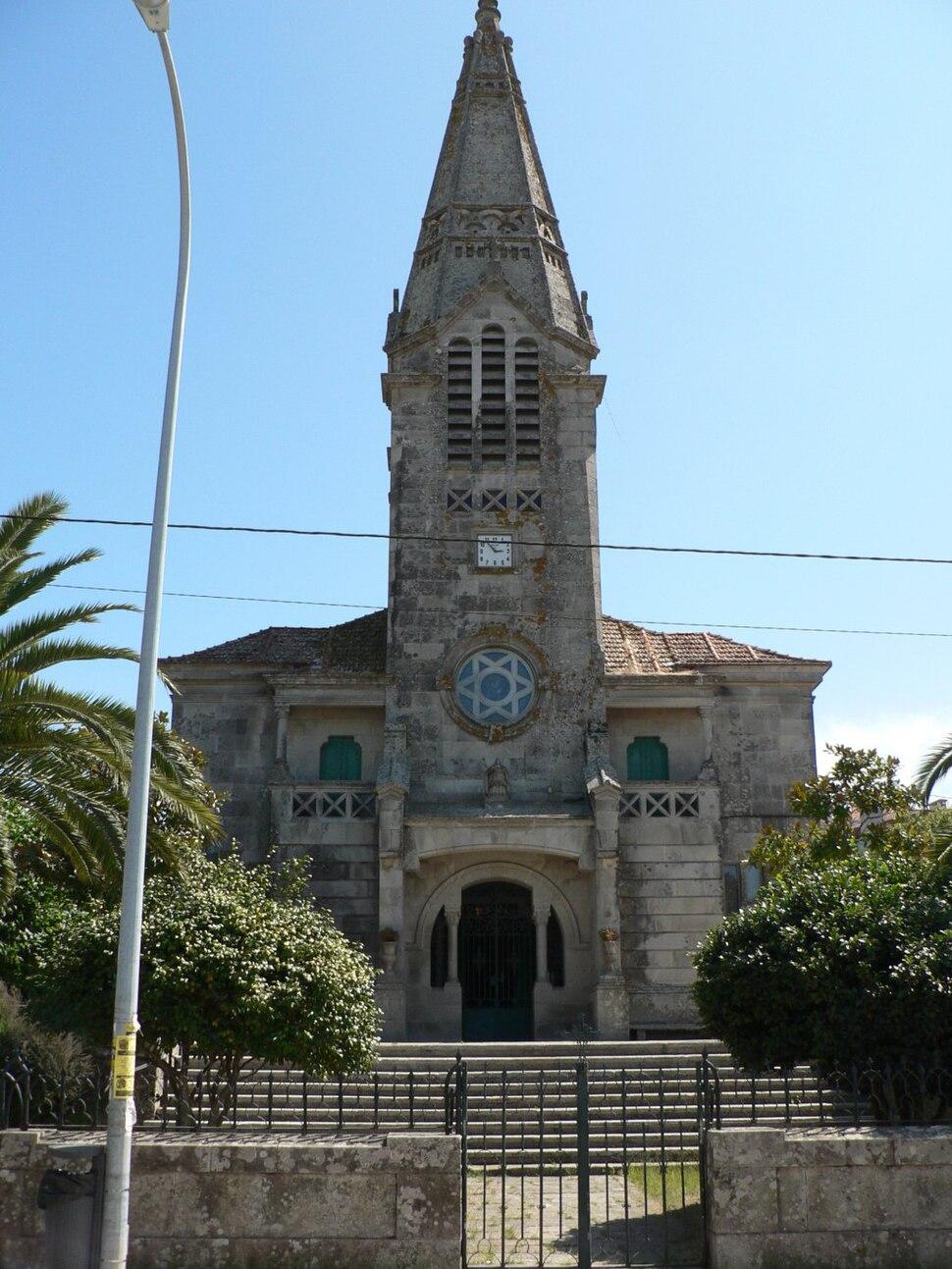 Igrexa de Santa Cristina de Sabarís, en Sabarís, Baiona, Pontevedra.