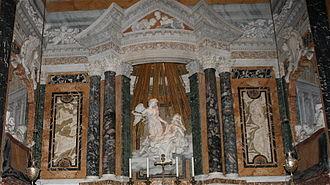 "Donor portrait - Gian Lorenzo Bernini's ""Ecstasy of St. Theresa"", Santa Maria della Vittoria, Rome."
