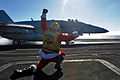 Santa launches planes aboard USS Dwight. D. Eisenhower.jpg
