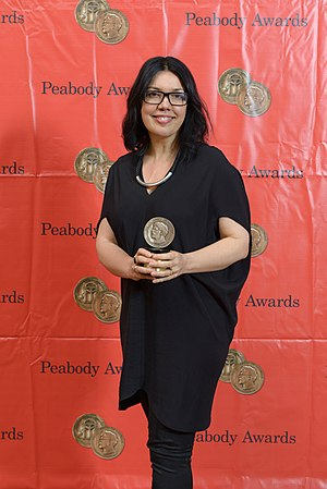 Sundance TV - Sundance TV President Sarah Barnett at the 73rd Annual Peabody Awards with Peabody for 'The Returned (French: Les Revenants)'