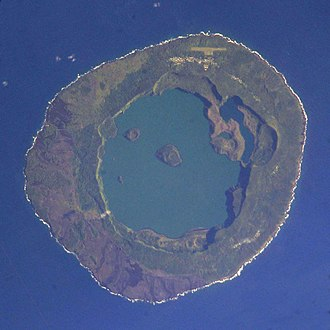 Niuafoʻou - Niuafo'ou from the International Space Station, 2005-03-19