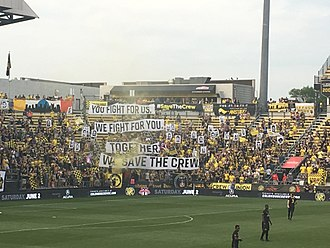 Columbus Crew SC - A Save the Crew tifo before a game against the Chicago Fire in 2018