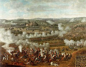 Third Silesian War - At the Battle of Rossbach, a portion of Frederick's army destroyed the united French and Imperial armies in a 90-minute battle.