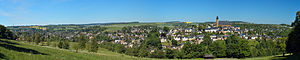 Schneeberg, Saxony - Image: Schneeberg panorama from south east (aka)