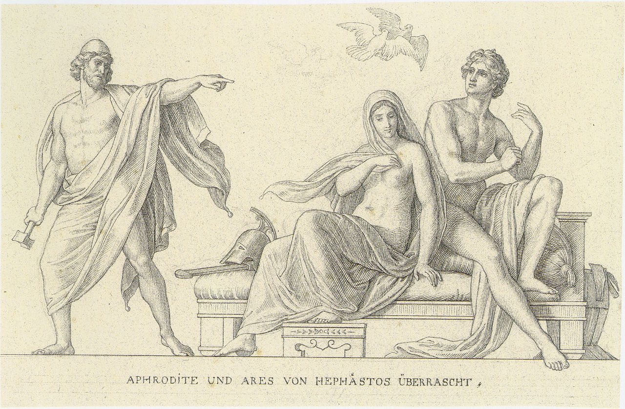hephaestus and aphrodite relationship story