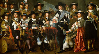 Officers and Guardsmen of the Company of Dirck Claesz. Veen militia in Hoorn