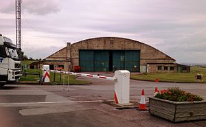 Science Museum at Wroughton - The unimposing entrance to the large site