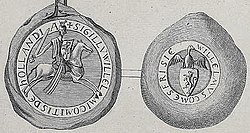 Seal of William I Count of Holland 1203-1222 (with counterseal).jpg