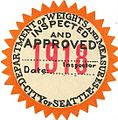 Seattle scale inspection seal, 1918 (30373467196).jpg