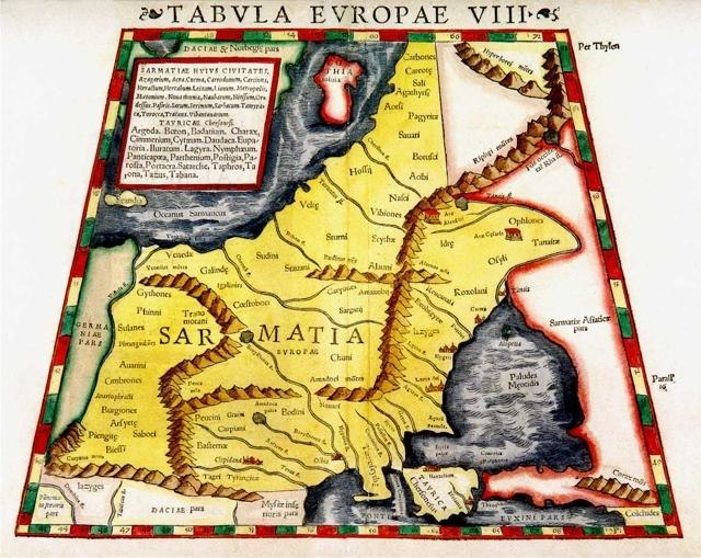 Sebastian Munster - Tabvla europae VIII (Sarmatia)