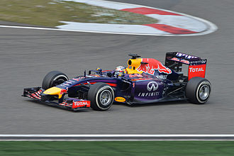 Formula racing - Sebastian Vettel during the 2014 Chinese Grand Prix